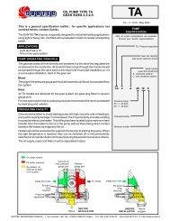 OIL PUMP TYPE TA GEAR SIZES 2-3-4-5 - Filter