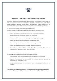 WASTE OIL CONTAINERS AND DISPOSAL OF USED OIL - fim africa