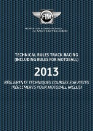 2013 Technical Rules Track Racing - FIM