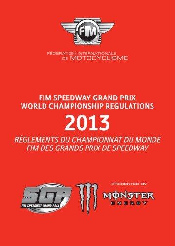 fim speedway grand prix world championship regulations ...