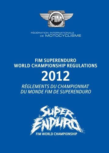 Règlements du Championnat du Monde FIM de SuperEnduro