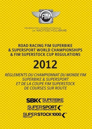 Règlements du Championnat du Monde FIM Superbike