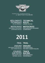 TECHNICAL RULES MOTOCROSS RÈGLEMENTS ... - FIM