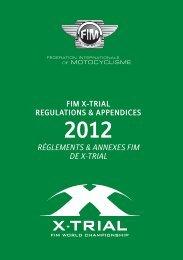 Règlements & Annexes FIM de X-Trial 2012