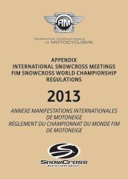 2013 Annexe Manifestations Internationales de Motoneige ... - FIM