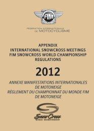 Annexe Manifestations Internationales de Motoneige 2012 et ... - FIM