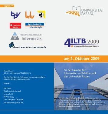 Der Flyer im PDF - Fakultät für Informatik und Mathematik ...