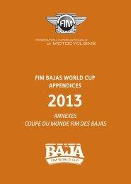 Annexes Coupe du Monde FIM des Bajas 2013
