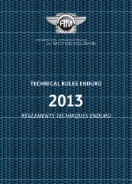 TECHNICAL RULES ENDURO RÈGLEMENTS TECHNIQUES ... - FIM