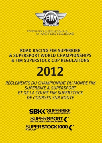Road Racing FIM Superbike & Supersport World Championships
