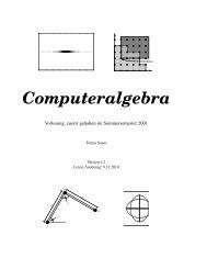 Computer Algebra - Fakultät für Informatik und Mathematik