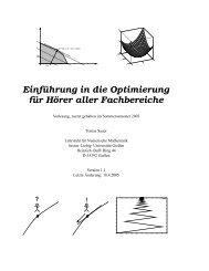 Einführung in die Optimierung - Fakultät für Informatik und Mathematik