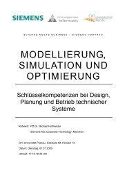 modellierung, simulation und optimierung - Fakultät für Informatik ...