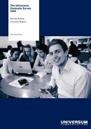 The Universum Graduate Survey 2006 - Universität Passau