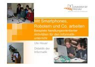 Mit Smartphones, Robotern und Co. arbeiten – Beispiele ...