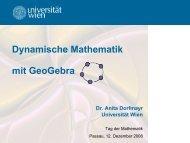 Dynamische Mathematik mit GeoGebra