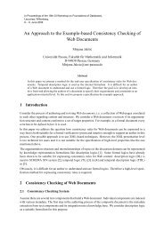 An Approach to the Example-based Consistency Checking of Web ...