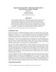 Supporting interoperability of distributed digital archives using ...
