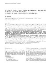 is postoperative radiotherapy after breast conserving surgery always ...