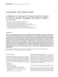 NasoeNteRic tube complicatioNs