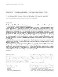 common femoral artery – uncommon aneurysms - ResearchGate