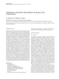 MINIMALLY INVASIVE TREATMENTS IN RENAL CELL CARCINOMA
