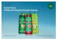 Garnier Fructis. Kräftigende Shampoos für jeden Haartyp. - trndload