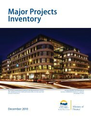 Major Projects Inventory - Ministry of Finance - Government of British ...