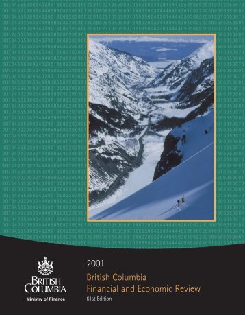 B.C. Financial and Economic Review 2001 - Ministry of Finance