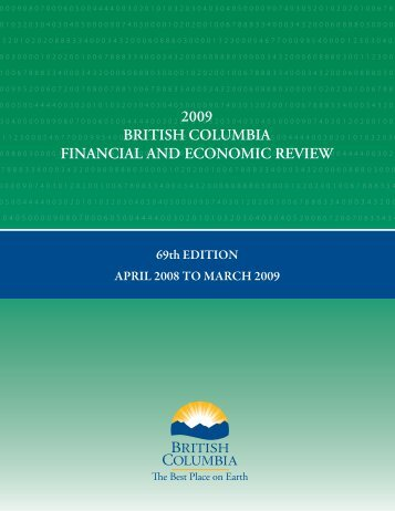 B.C. Financial and Economic Review 2009 - Ministry of Finance