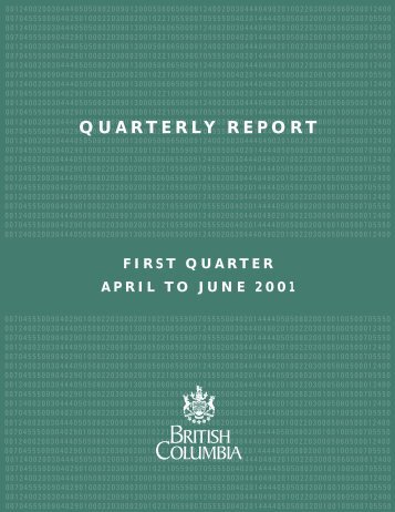 2001/02 First Quarterly Report - Ministry of Finance