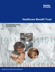 Health Care Benefit Trust Report - Ministry of Finance