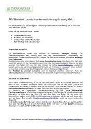 PKV Basistarif: private Krankenversicherung für wenig Geld