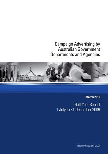 Campaign Advertising by Australian Government Departments and ...