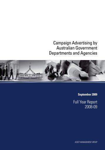 Full Year Report 2008-09 - Department of Finance and Deregulation