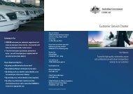 COMCAR Customer Service Charter