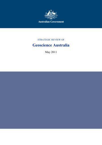 Strategic Review of Geoscience Australia - Department of Finance ...