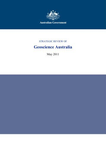 Strategic Review of Geoscience Australia - Department of Finance ...