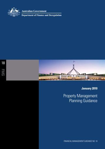 Property Management Planning Guidance - Department of Finance ...