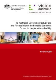 The Australian Government's study into the Accessibility of the ...