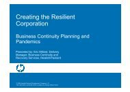 Creating the Resilient Corporation - Business Continuity Planning ...