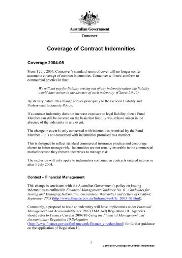 Indemnity Form Llp