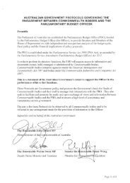 Australian Government Protocols Governing the Engagement ...
