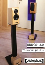 Flyer Brilon 2.0 Wissen was gut ist - Audio Physic