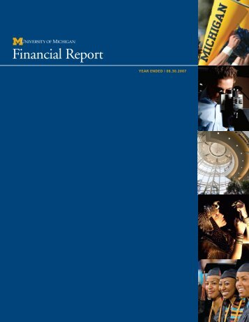 Financial Report - Finance - University of Michigan