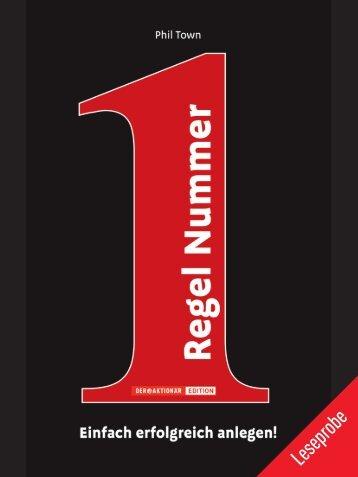 """Leseprobe """"Regel Nummer 1"""" - Financebooks.de"""