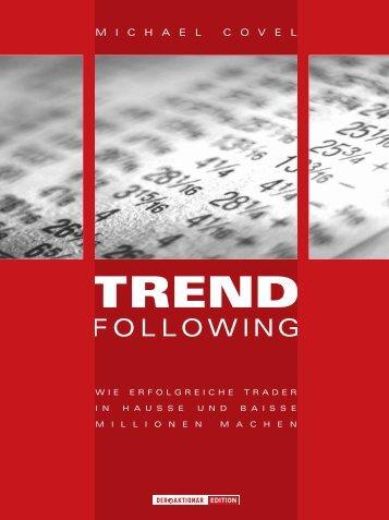 """Leseprobe """"Trend Following"""" - Buchhandel.de"""
