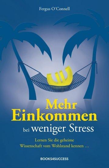 """Leseprobe """"Mehr Einkommen bei weniger Stress"""" - Financebooks.de"""