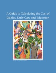 A Guide to Calculating the Cost of Quality Early Care and Education
