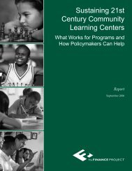 Sustaining 21st Century Community Learning Centers - The Finance ...